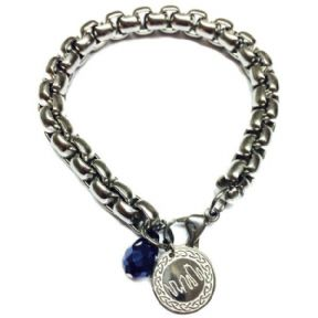 Outlander Inspired Stainless Steel Box Chain Bracelet & Charm 9798